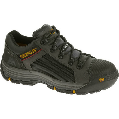 Caterpillar P90525 Mens Black Convex Lo Steel Toe Work Shoe