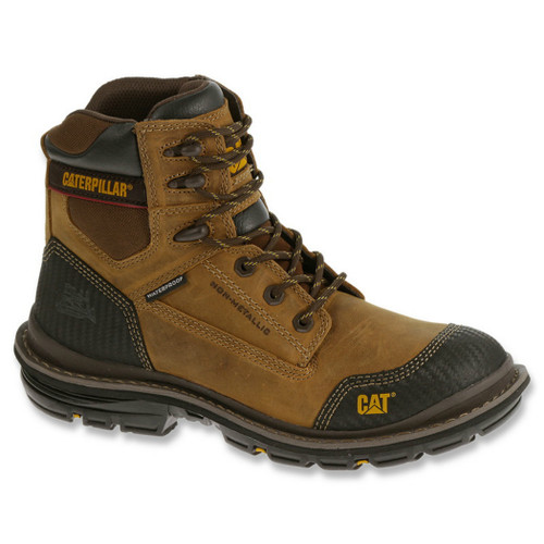 "Caterpillar P74051 Mens Brown Fabricate 6"" Tough Waterproof Work Boot"