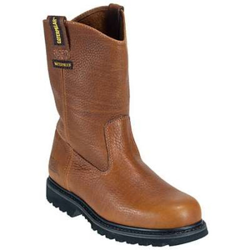 Caterpillar P73616 Mens Mahogany Edgework Waterproof Wellington Work Boot
