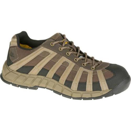 Caterpillar P90294 Mens Worn Brown Switch Steel Toe Work Shoe