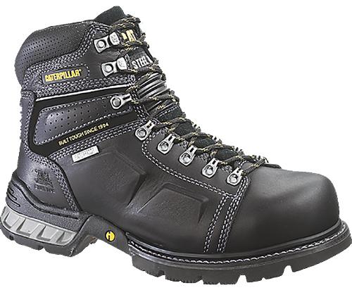 Caterpillar P89945 Mens Endure Black Waterproof Steel Toe Work Boot