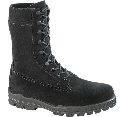 Bates 1421-B Mens 9 Inch Black Suede Durashock Steel Toe Boot