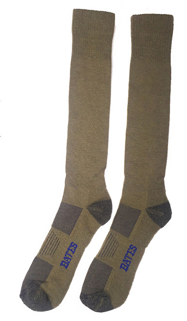 BATES ALL CLIMATE LIGHTWEIGHT OVER THE CALF ARMY BROWN 1 PK SOCKS Made in the USA