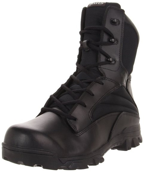 Bates 2068 Mens 8 Inch Leather Nylon ZR8 Side Zip Uniform Boot