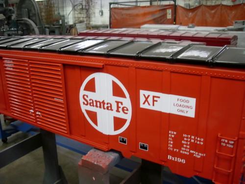 SANTA FE 50' Modern Box Car Body, Assembled  READY TO SHIP