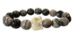 Artsy & Cream Elephant Bracelet