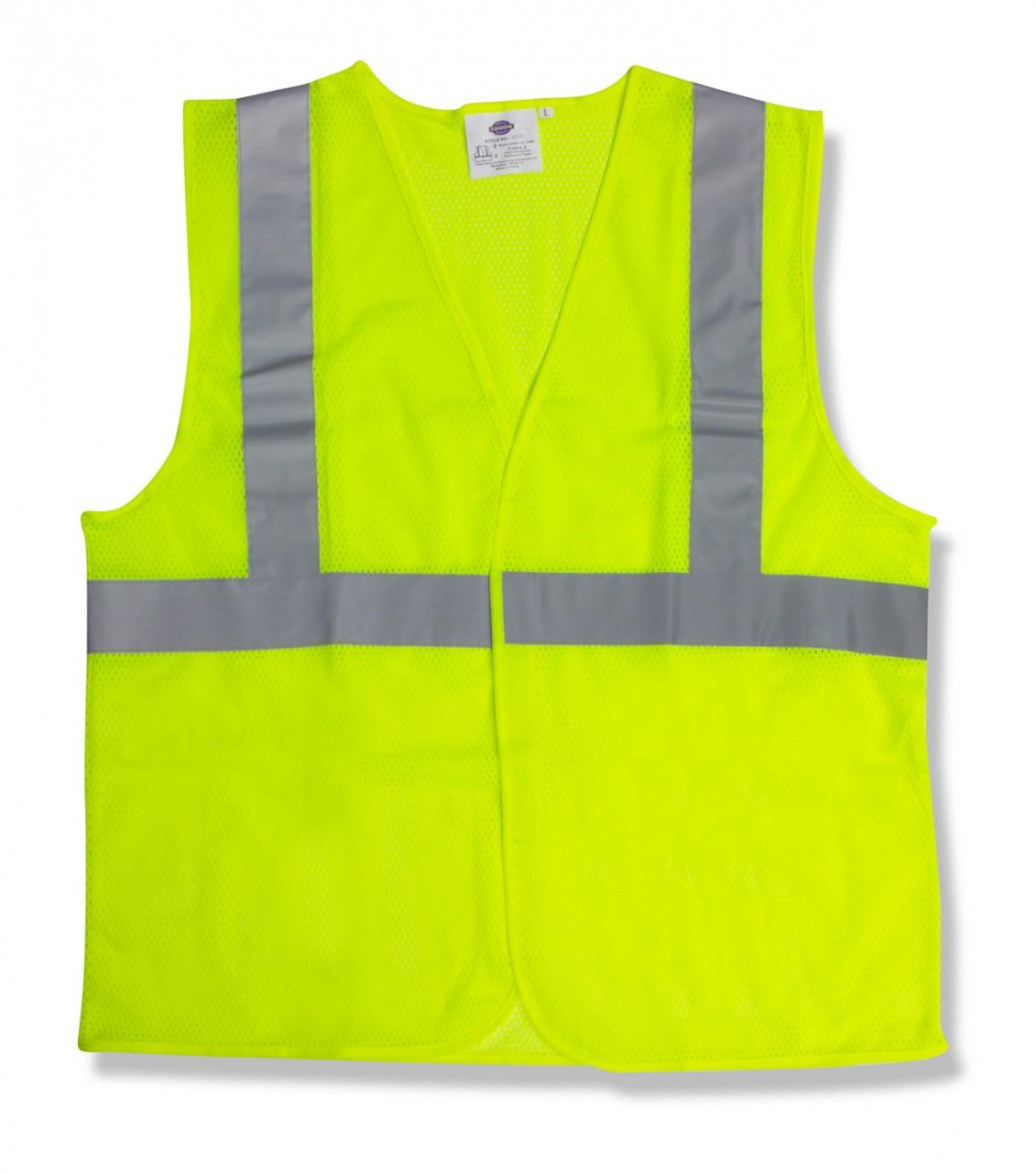 V211P: Class II Lime Mesh Safety Vest