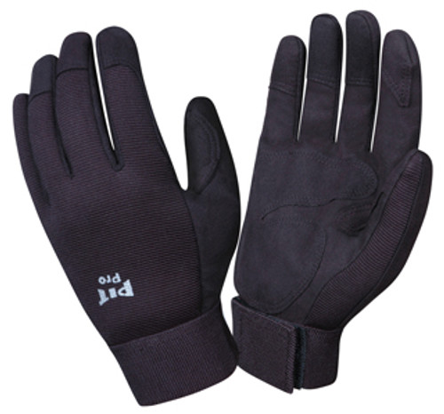 77871: Pit Pro Black Double Palm/Black Back Gloves