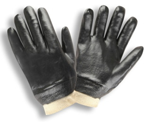 5000: Smooth PVC/Knit Wrist Gloves - 12 Pack