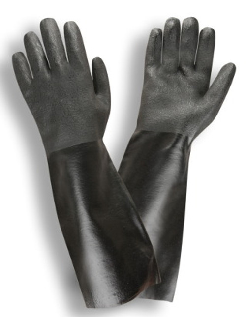 5118I: Etched Finish/18-Inch Length PVC Dipped Gloves - 12 Pack