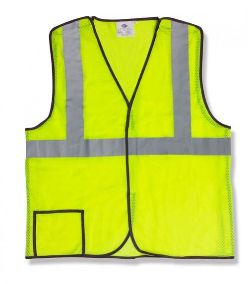 VB231P: Class II Lime Mesh Breakaway Vest