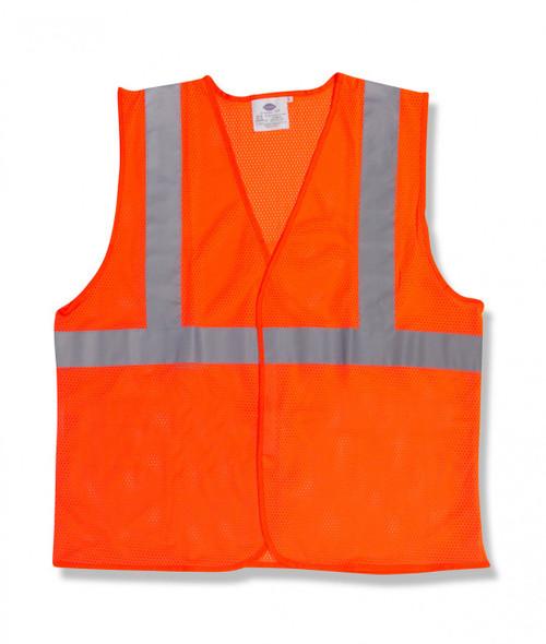 V210P: Class II Orange Mesh Safety Vest