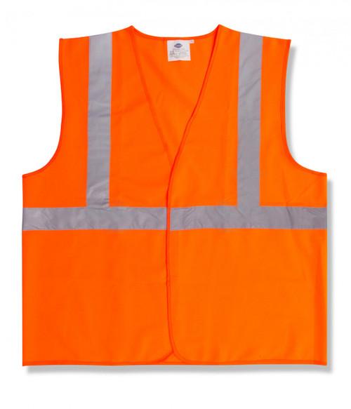 V220: Class II Solid Orange Safety Vest