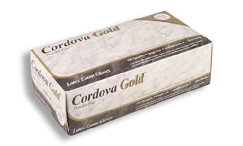 4010: Cordova Gold Exam Grade/Powder Free Latex Gloves - 100 Count Box