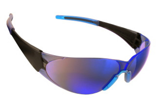 ENB60S: Doberman Blue Mirror Lens Safety Glasses - 12 Pack