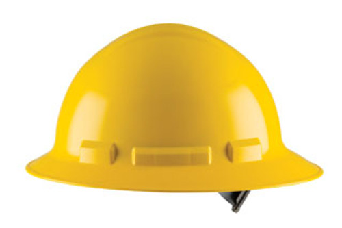 H34R: Duo Full Brim Style, 4-Point Nylon Ratchet Suspension Safety Helmet