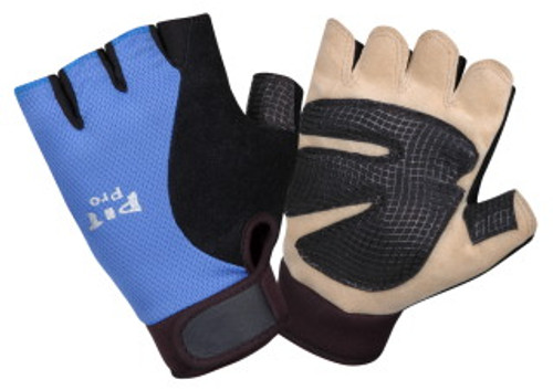 77771: Pit Pro Gel Palm/Half Fingers/Blue Back Gloves