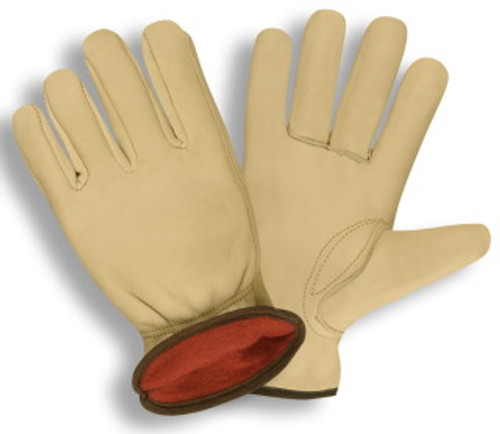 8240: Select Grain Cowhide/Red Fleece Lined Driver - 12 Pack