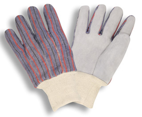 7120: Shoulder Leather/Clute Cut/Knit Wrist Gloves - 12 Pack