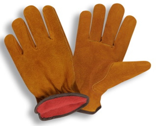 7910: Split Cowhide/Red Fleece Lined Driver - 12 Pack