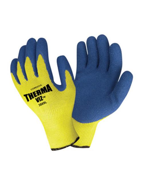 3889: Therma-Viz Latex Gloves - 12 Pack