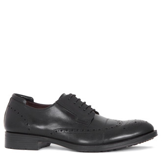 Men's Black Brogue Shoes MP 7298815 BLK