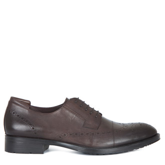 Men's Brown Brogue Shoes MP 7298815 BRA