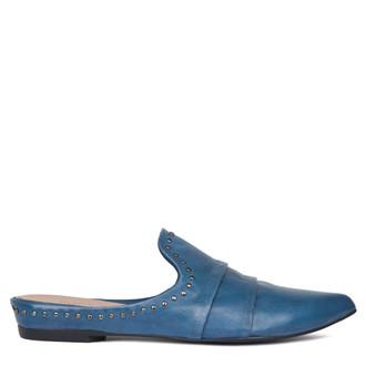 Women's Skye Blue Flat Mules GP 5121918 BLZ