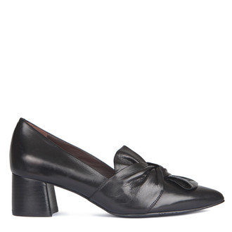 Women's Block Heel Bow Trim Courts GP 5251818 BLK