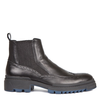 Men's Rubber Sole Chelsea Boots GB 7322018 BLK