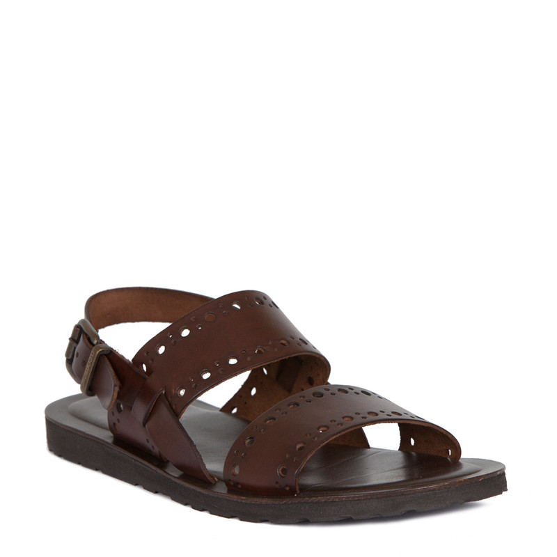 Bay Perforated Summer Sandals | TJ COLLECTION | Side Image - 1