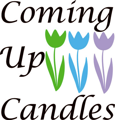 Coming Up Candles Logo