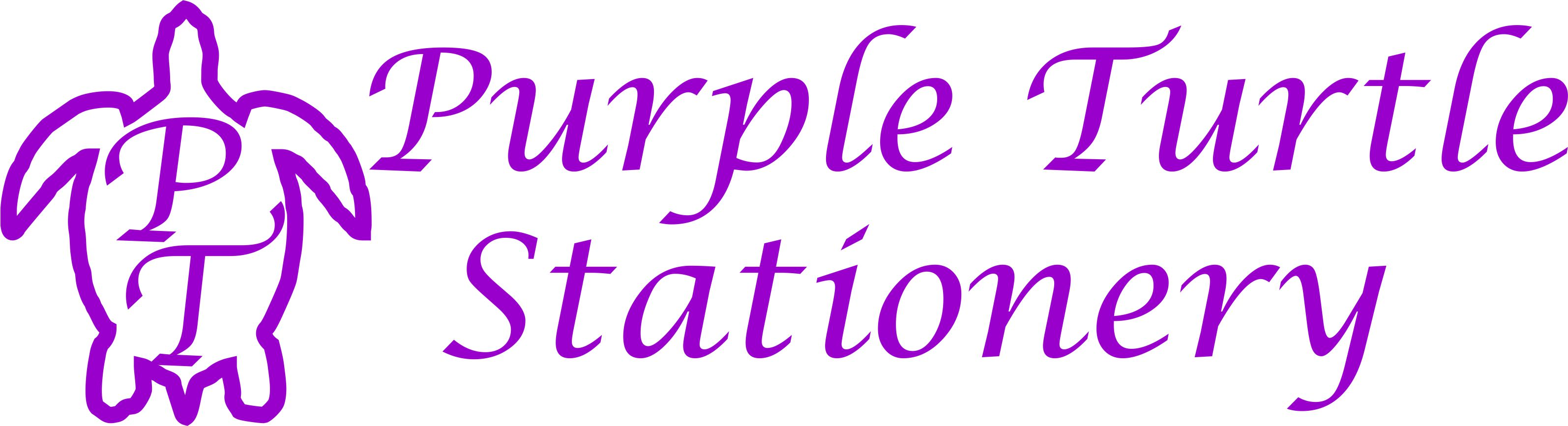 Purple Turtle Stationery Logo