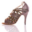 Vaneno - Grey And Black Open Toe Lace Up Stiletto Sandal - 4 inch Heels