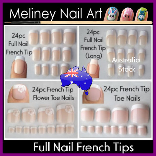 24pc Full Nail French Tips