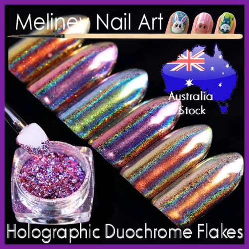 Holographic Duochrome Flakes