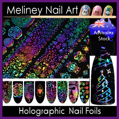 holographic nail foils