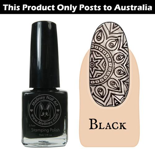 Meliney Nail Art Stamping Polish 9 ml Black