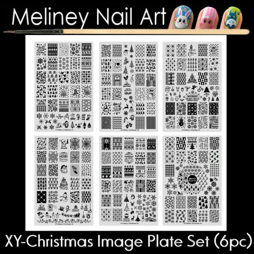 XY-Christmas Image Plate for Stamping Nail Art Designs