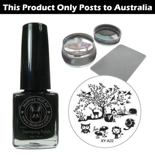 meliney nail art stamping set