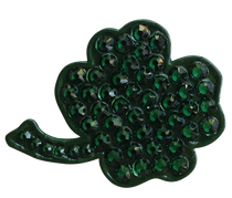 Bonjoc Ball Marker & Hat Clip - FOUR LEAF SHAMROCK IRISH CLOVER