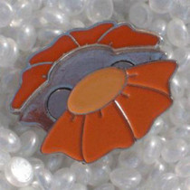 Luckiemark Ball Marker Pin - FLOWER - Orange