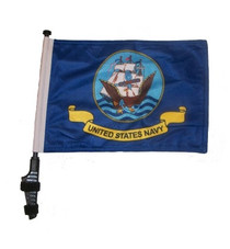 Navy 11x15 inch Golf Cart Flag with Pole