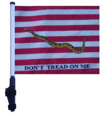 First Navy Jack 11x15 inch Golf Cart Flag with Pole