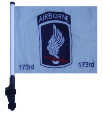 173rd Airborne 11x15 inch Golf Cart Flag with Pole