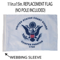 "Golf Cart Flags - COAST GUARD 11""x15"" Replacement Flag"