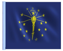 """Golf Cart Flags - INDIANA 11""""x15"""" Replacement Flag"""