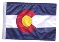"""Golf Cart Flags - COLORADO 11""""x15"""" Replacement Flag"""