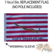 """Golf Cart Flags - FIRST NAVY JACK 11""""x15"""" Replacement Flag"""