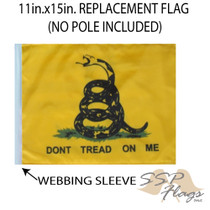 """Golf Cart Flags - DON'T TREAD ON ME 11""""x15"""" Replacement Flag"""